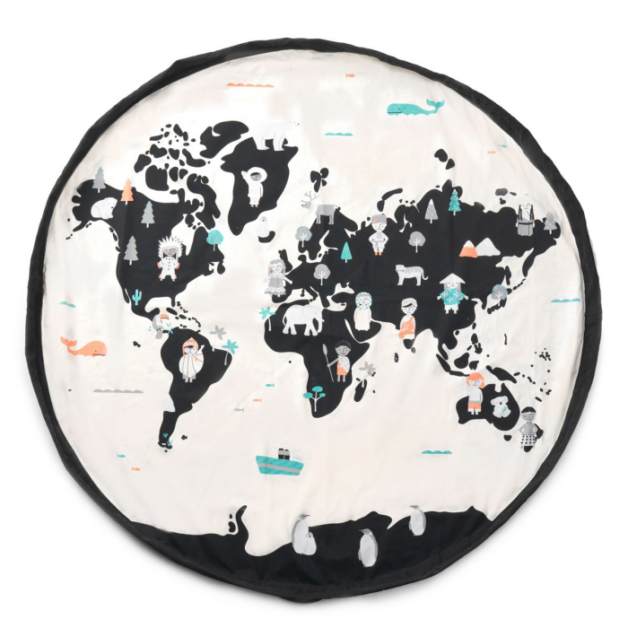 Patura de joaca 3 in 1 Play&Go print harta lumii 1