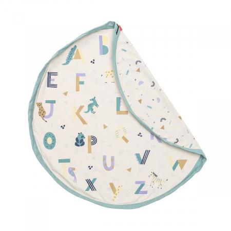 Patura de joaca imprimeu alfabetul animalelor0