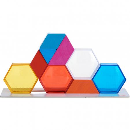 Joc de constructie cristale colorate - 31 cm0