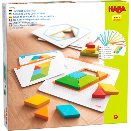 Joc creativitate forme colorate - 20x20x0.4 cm0