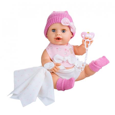 Bebelus fetita Rosa handmade, colectia Susu - 38cm0