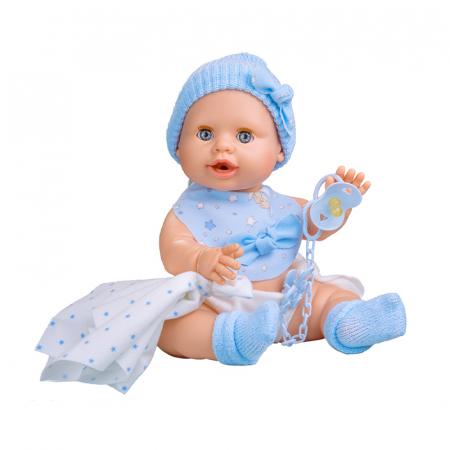 Bebelus baietel Azul handmade, colectia Susu - 38cm0