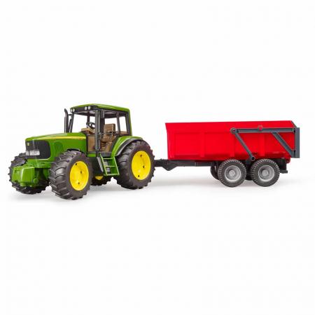 Jucarie Tractor John Deere 6920 cu remorca basculanta - 67 x 16,5 x 17,7 cm0