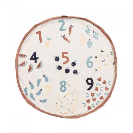 Patura de joaca imprimeu legume si numere1