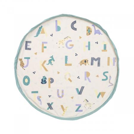 Patura de joaca imprimeu alfabetul animalelor1