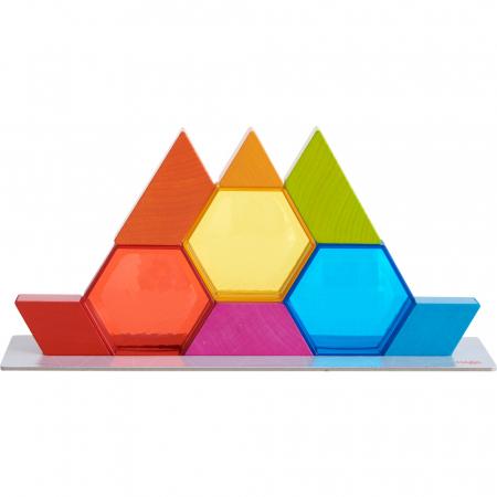 Joc de constructie cristale colorate - 31 cm1
