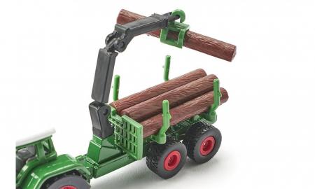 Jucarie macheta tractor forestier cu remorca, Siku [2]