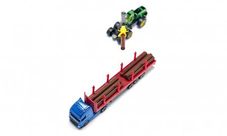 Jucarie macheta camion transporter busteni, Siku [5]