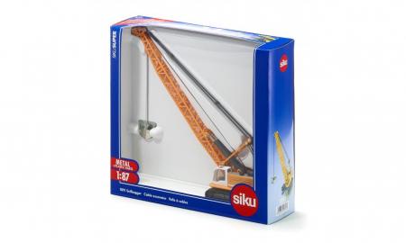 Jucarie macheta excavator tip macara cu cablu Liebherr, Siku [1]