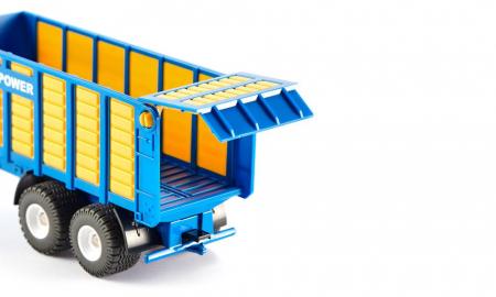 Jucarie macheta tractor New Holland cu remorca, Siku [3]