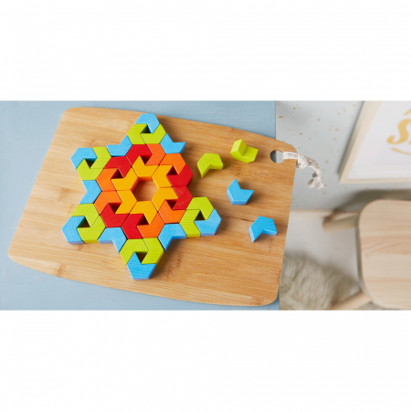Joc de creativitate lemn  Caleidoscop- 22x22x4.5 cm1