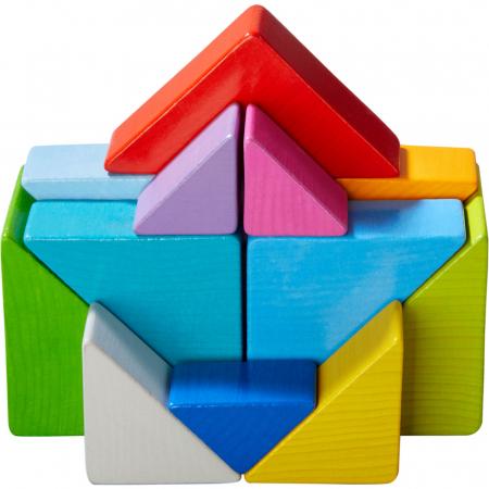 Joc 3D creativitate cub tangram - 21.9x21.9x6.3 cm2