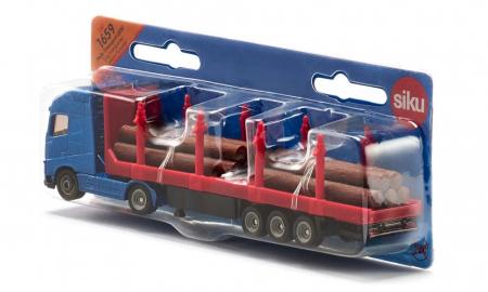 Jucarie macheta camion transporter busteni, Siku [3]