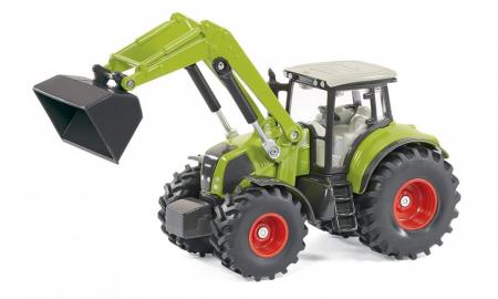 Jucarie macheta tractor Claas Axion cu incarcator frontal si basculanta, Siku [7]
