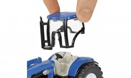 Jucarie macheta tractor New Holland cu incarcator frontal și malaxor de furaje Strautmann, Siku [2]