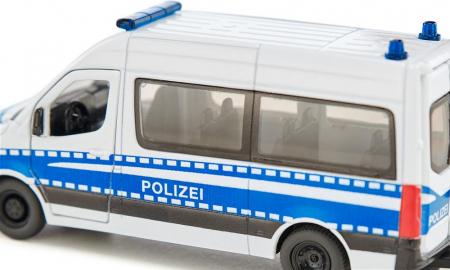 Jucarie macheta masina de politie Mercedes-Benz Sprinter, Siku [2]