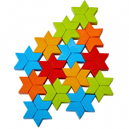 Joc de creativitate lemn  Caleidoscop- 22x22x4.5 cm2