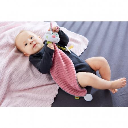 Accesoriu bebelusi iepuras cu loc de asezat suzeta - 50x16x7 cm3