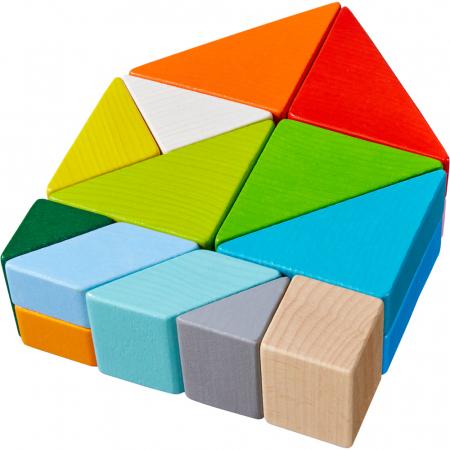 Joc 3D creativitate cub tangram - 21.9x21.9x6.3 cm3