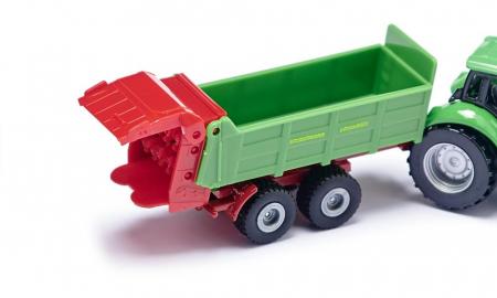 Jucarie macheta tractor pentru pregatirea campurilor cu remorca, Siku [2]