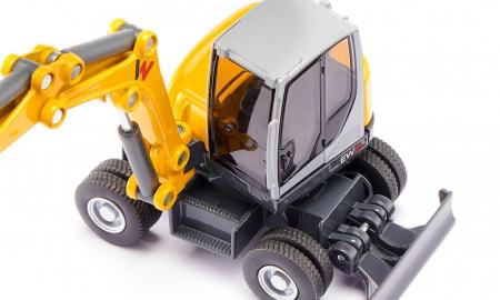 Jucarie macheta excavator mobil Wacker Neuson EW65, Siku [4]