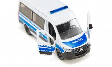 Jucarie macheta masina de politie Mercedes-Benz Sprinter, Siku [3]