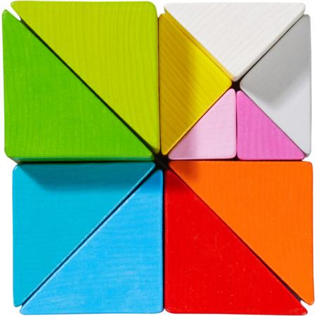 Joc 3D creativitate cub tangram - 21.9x21.9x6.3 cm4