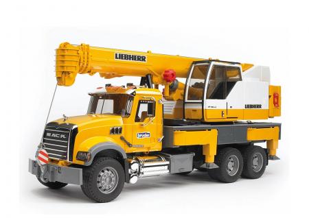 Jucarie Camion cu macara Mack Granite Liebherr - 66.0 x 18.5 x 27.0 cm0