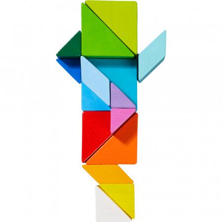 Joc 3D creativitate cub tangram - 21.9x21.9x6.3 cm5