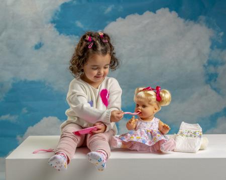Bebelus fetita surioara Lara handmade, colectia Susu, Berjuan luxury dolls [2]