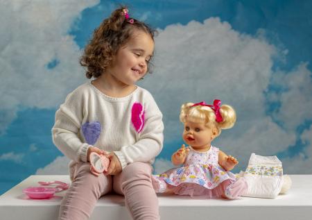 Bebelus fetita surioara Lara handmade, colectia Susu, Berjuan luxury dolls [4]