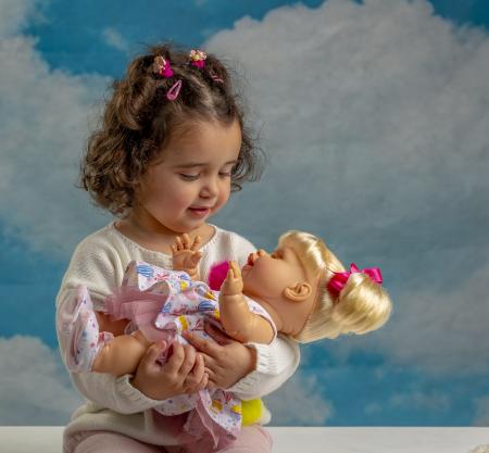 Bebelus fetita surioara Lara handmade, colectia Susu, Berjuan luxury dolls [6]