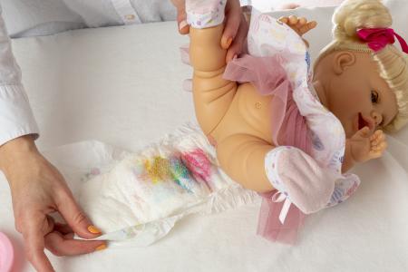 Bebelus fetita surioara Lara handmade, colectia Susu, Berjuan luxury dolls [3]