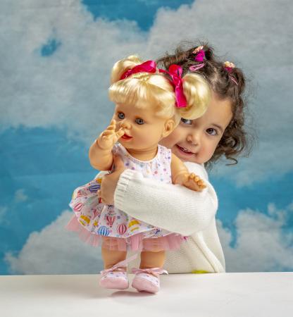 Bebelus fetita surioara Lara handmade, colectia Susu, Berjuan luxury dolls [7]