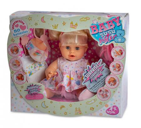 Bebelus fetita surioara Lara handmade, colectia Susu, Berjuan luxury dolls [1]