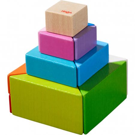 Joc 3D creativitate cub tangram - 21.9x21.9x6.3 cm6