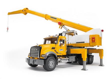 Jucarie Camion cu macara Mack Granite Liebherr - 66.0 x 18.5 x 27.0 cm2