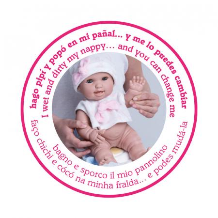 Bebelus fetita Rosa handmade, colectia Susu, Berjuan luxury dolls [7]