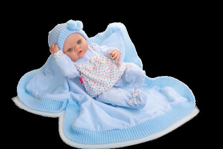 Papusa bebe Arrulo Azul, colectia New Born, Berjuan handmade luxury dolls [0]