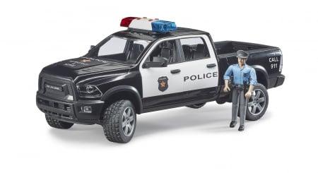 Jucarie Ram 2500 masina de politie+ figurina politist cu accesorii - 40 cm x 17 cm x 15 cm0
