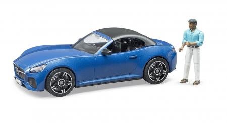 Jucarie masina Roadster Bruder + figurina sofer - 27.0 x 12.0 x 9.0 cm1