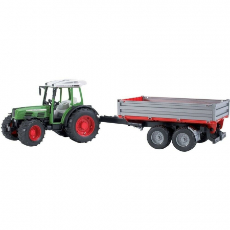Jucarie Tractor Fendt  209 S cu remorca basculabila - 56.0 cm × 13.0 cm × 15.0 cm2
