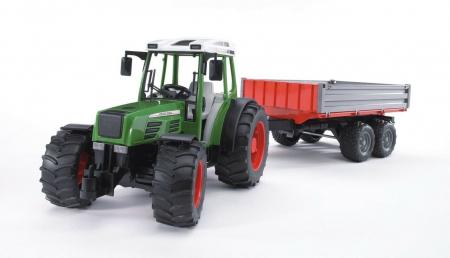 Jucarie Tractor Fendt  209 S cu remorca basculabila - 56.0 cm × 13.0 cm × 15.0 cm1