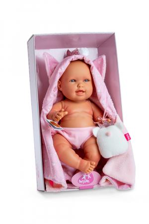 Bebelus fata Pirri cu accesoriu paturica capa si plus, colectia Andrea - 38 cm1