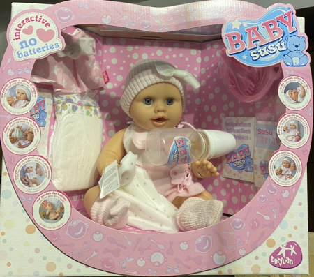 Bebelus fetita Rosa handmade, colectia Susu - 38cm10