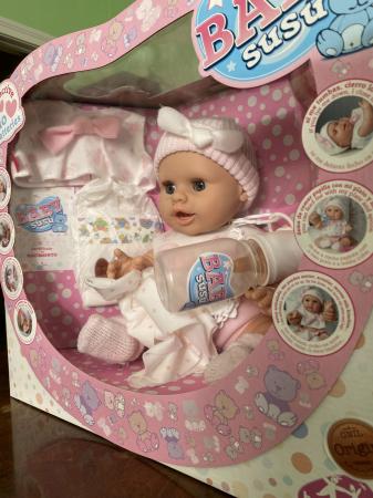 Bebelus fetita Rosa handmade, colectia Susu - 38cm4