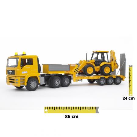 Jucarie tip camion MAN TGA si buldoexcavator JCB 4CX, Bruder [0]