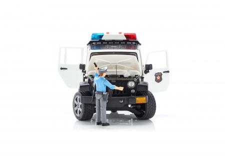 Jeep Wrangler Rubicon, masina de politie, modul de lumini si sunet + figurina politist - 32.9 x 14.4 x 16.2 cm4