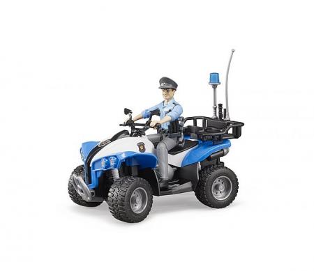 Jucarie ATV de politie cu figurina politist si accesorii. Dimensiuni 16 x 9,3 x 9,3 cm3