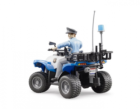 Jucarie ATV de politie cu figurina politist si accesorii. Dimensiuni 16 x 9,3 x 9,3 cm2